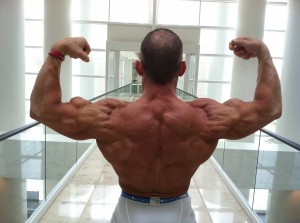 Back Double Biceps in White House